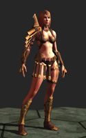 Guild Wars Girl - 3d Character game model