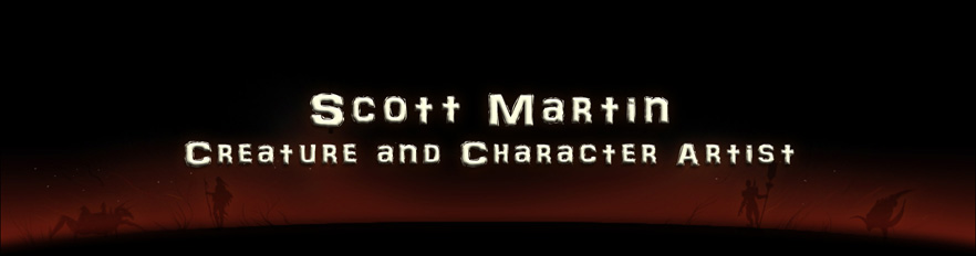 the art of scott martin, character artist